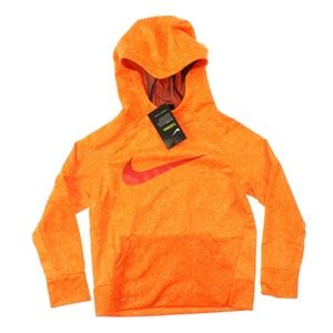 Nike Therma Printed Training Hoodie Hyper Orange